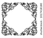 classical baroque vector of... | Shutterstock .eps vector #1017418180