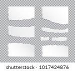 set of vector realistic torn... | Shutterstock .eps vector #1017424876