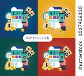 pay per click  online banking ... | Shutterstock .eps vector #1017426130