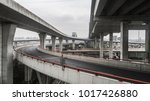 aerial view of highway and... | Shutterstock . vector #1017426880