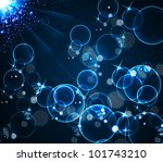 blue bubbles and light...