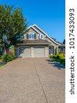 big custom made luxury house... | Shutterstock . vector #1017433093