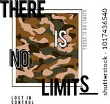 there is no limits slogan... | Shutterstock .eps vector #1017436540