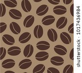 seamless pattern with coffee... | Shutterstock .eps vector #1017436984