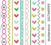 seamless vector pattern with... | Shutterstock .eps vector #1017440593