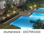condo and apartment complex... | Shutterstock . vector #1017441310