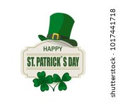 patrick's day. the green hat.... | Shutterstock .eps vector #1017441718