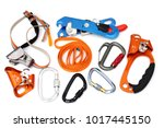 caving and climbing devices ...   Shutterstock . vector #1017445150