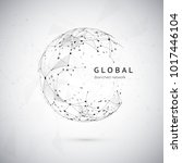abstract global network concept.... | Shutterstock .eps vector #1017446104