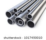 Steel Pipes Profile Stack. 3d...