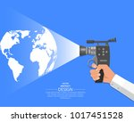 the hand of the video operator... | Shutterstock .eps vector #1017451528