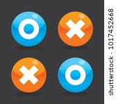 glossy o and x round shape... | Shutterstock .eps vector #1017452668