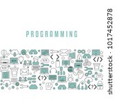 coding and programming... | Shutterstock .eps vector #1017452878