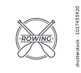 rowing vector logo with oars | Shutterstock .eps vector #1017455920