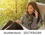beautiful young teenage woman... | Shutterstock . vector #1017456184