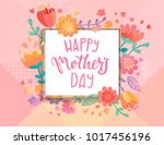 card for happy mother's day in... | Shutterstock .eps vector #1017456196