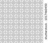 retro lineart pattern. vector... | Shutterstock .eps vector #1017460450