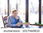 gladden businessman typing... | Shutterstock . vector #1017460810