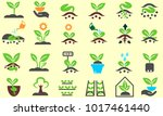 plant and sprout icon set.... | Shutterstock .eps vector #1017461440