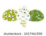 happy valentine's day. vector... | Shutterstock .eps vector #1017461500