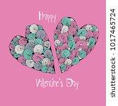 happy valentine's day. template ... | Shutterstock .eps vector #1017465724