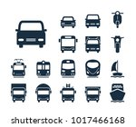 bus icon. collection of... | Shutterstock .eps vector #1017466168
