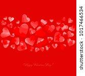 happy valentines day. greeting... | Shutterstock .eps vector #1017466534