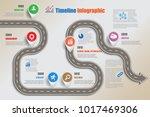 business road map timeline...   Shutterstock .eps vector #1017469306