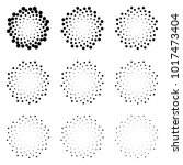 halftone dotted circles... | Shutterstock . vector #1017473404