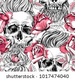 seamless pattern with image of... | Shutterstock .eps vector #1017474040