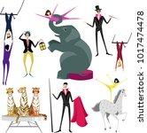 circus artist. set | Shutterstock .eps vector #1017474478