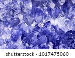 macro photo of blue sapphire... | Shutterstock . vector #1017475060