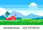 summer rural landscape farming
