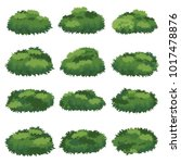 natural bush vector | Shutterstock .eps vector #1017478876
