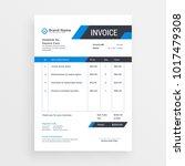 elegant invoice template design ...   Shutterstock .eps vector #1017479308