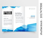 blue geometric abstract triple...   Shutterstock .eps vector #1017479500