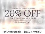 premium jewelry style sale...   Shutterstock .eps vector #1017479560