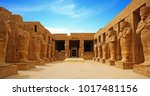 ancient ruins of karnak temple... | Shutterstock . vector #1017481156
