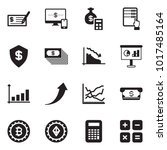 solid black vector icon set  ... | Shutterstock .eps vector #1017485164