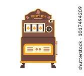 first slot machine liberty bell.... | Shutterstock .eps vector #1017494209