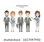 business people teamwork with... | Shutterstock .eps vector #1017497950