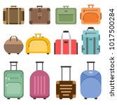 handbags and suitcases. vector... | Shutterstock .eps vector #1017500284