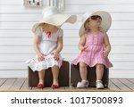 little girls play with... | Shutterstock . vector #1017500893