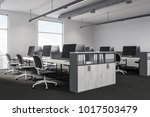 modern office corner with white ... | Shutterstock . vector #1017503479