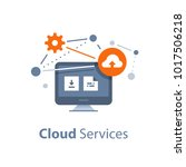 cloud services and technology ... | Shutterstock .eps vector #1017506218