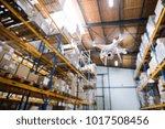 drone flying inside the... | Shutterstock . vector #1017508456
