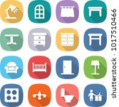 flat vector icon set   table... | Shutterstock .eps vector #1017510466