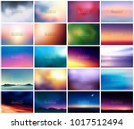 big set of 20 horizontal wide... | Shutterstock .eps vector #1017512494