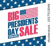 usa presidents day big sale... | Shutterstock .eps vector #1017513046