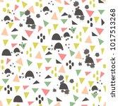 playful abstract pattern | Shutterstock .eps vector #1017513268